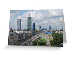Aleje Jerozolimskie - Jerusalem Avenue in Warsaw, Poland Greeting Card
