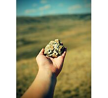 hand with a stone Photographic Print