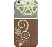 Retro Floral Decor Illustration iPhone Case/Skin