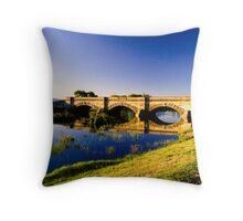 Ross Bridge, Tasmania, in portrait Throw Pillow