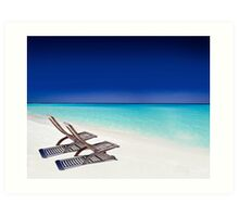 Relax at the Beach  Art Print