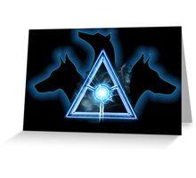 Cerberus Solutions - Logo on Black Greeting Card