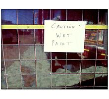 Silly Sign - Ceramic Tiles Photographic Print