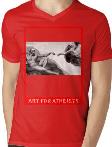 Art for Atheists: Darwin#1 Mens V-Neck T-Shirt