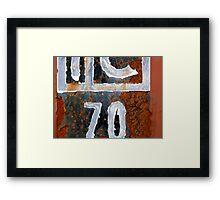 IC70 Framed Print