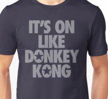 IT'S ON LIKE DONKEY KONG - Checkered (White) Unisex T-Shirt