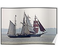 Tall Ships Passing (I) Poster