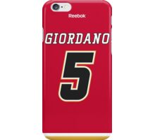 Calgary Flames Mark Giordano Jersey Back Phone Case iPhone Case/Skin
