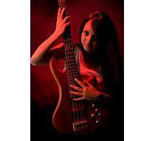 Da Bass in the Hands of da Devil (cheeky!) Photographic Print