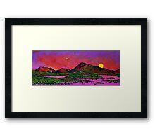 North Uist Pink Sunset, Scottish Western Isles. Framed Print