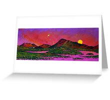 North Uist Pink Sunset, Scottish Western Isles. Greeting Card