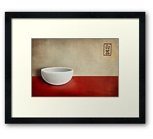 White bowl Framed Print