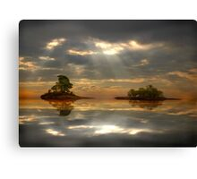 Magical light and water reflections landscape Canvas Print