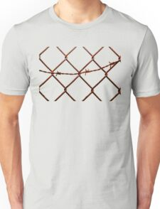 Chain Link & Barbed Wire Unisex T-Shirt
