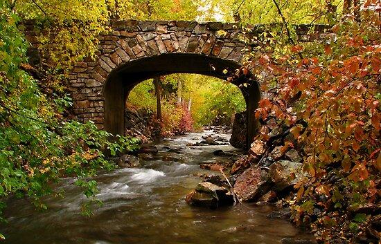 Stone Bridge Crossing by David Kocherhans