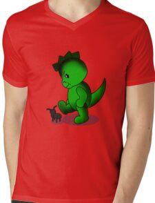 Dino Mens V-Neck T-Shirt