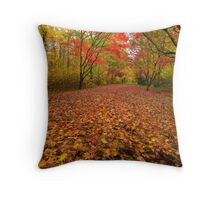 Autumn colour Alice holt forest Throw Pillow