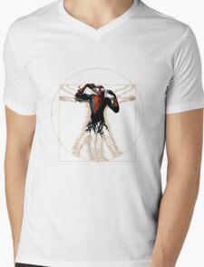 Vitruvian Spiderman Mens V-Neck T-Shirt