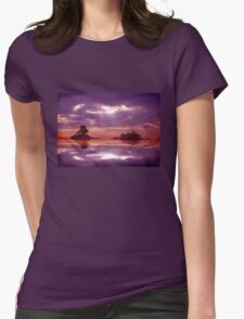 Purple sky reflections Womens Fitted T-Shirt