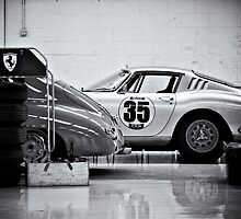 Old Ferrari  in the pits by dunxs