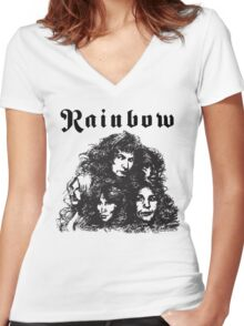 Ritchie Blackmore Rainbow Women's Fitted V-Neck T-Shirt