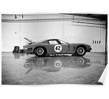 Old Sports car In Garage 2 Poster