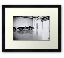 Old Maserati in Garage Framed Print