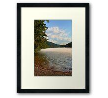 Foggy River Framed Print
