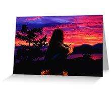 Contemplation Of A Artist In Dreamtime Greeting Card