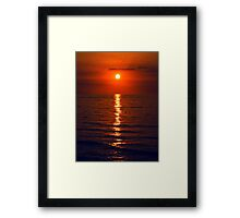 Red Sky - when the sun sets Framed Print