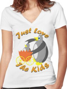 Just Love The Kids Women's Fitted V-Neck T-Shirt