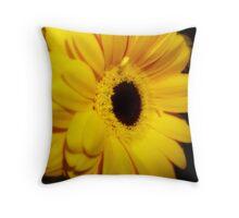 Yellow Gerbera ~ The Orton Effect ~ Throw Pillow