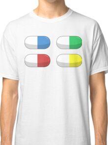 Pills - Red,Blue,Green,Yellow Classic T-Shirt