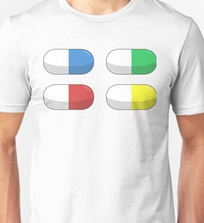 Pills - Red,Blue,Green,Yellow Unisex T-Shirt