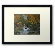 Alone, With his Thoughts Framed Print