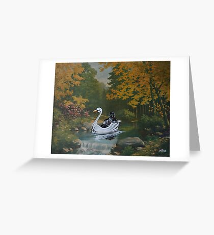 Alone, With his Thoughts Greeting Card