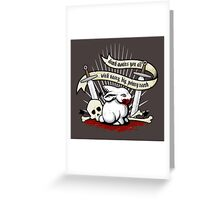 The Rabbit of Caerbannog Greeting Card