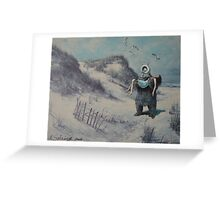 Swooped Greeting Card