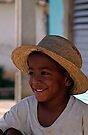 Cuban boy in Trinidad, Cuba by David Carton