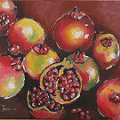 Pomegranates by Marie Theron