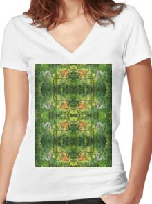 Red-fronted Ring-tailed Forest Women's Fitted V-Neck T-Shirt