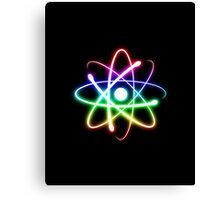Colorful Glowing Atomic Symbol  Canvas Print