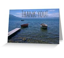 Thank you boats Greeting Card