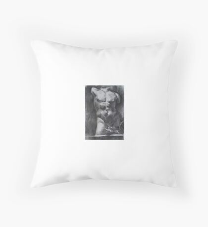 Nude male Ancient Greek sculpture Throw Pillow