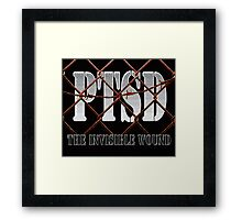 PTSD - The Invisible Wound Framed Print