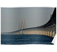 Bridges in Denmark - Øresunds Bridge Poster