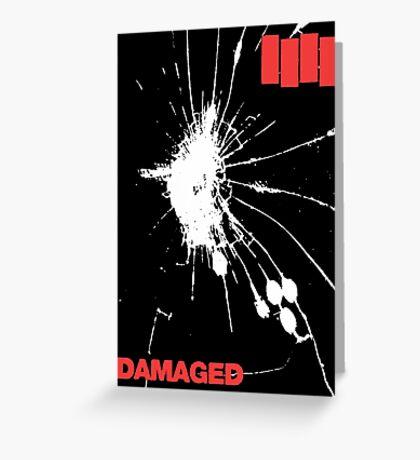 Black Flag - Damaged Greeting Card