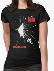 Black Flag - Damaged Womens Fitted T-Shirt