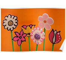 Chocolate Flower Pops ! Poster
