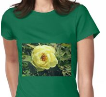 Yellow Tree Peony Womens Fitted T-Shirt